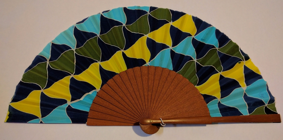 "Abanico seda ""triángulos"""