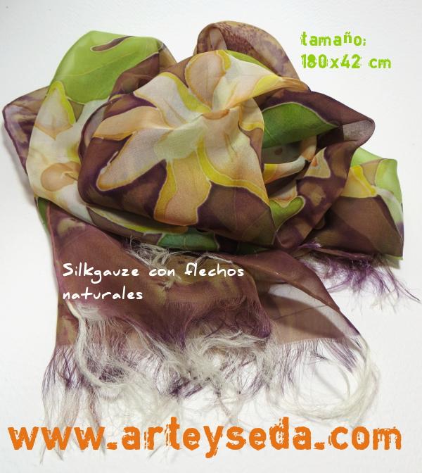 "Fular seda ""Passifloras"""
