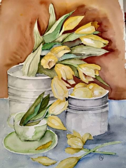 Tulipanes y limones