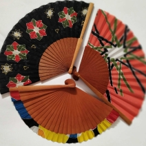 abanicos de seda pintada a mano de arte y seda